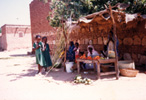 Market women and schoolgirls in Nyala, Darfur